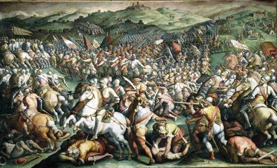Η μάχη του Μαρτσιάνο στην κοιλάδα Κιάνα…Πίνακας του Ντα Βίντσι το έργο του Τζιόρτζιο Βαζάρι